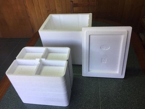 Caja de embalaje de poliestireno expandido