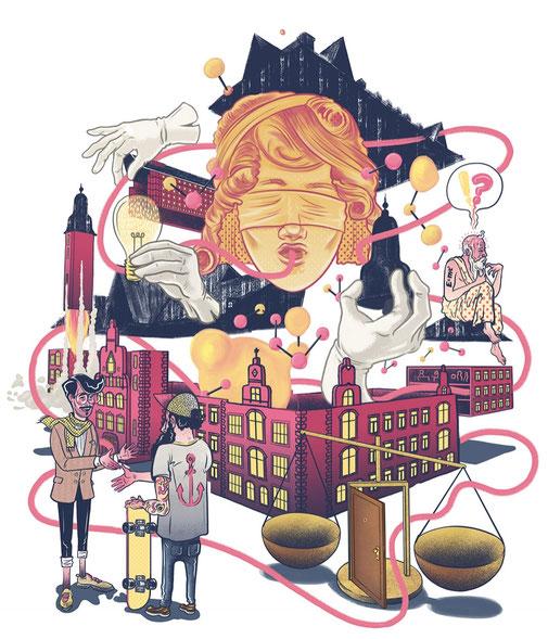 Sensor Magazin, Wiesbaden, Cover Illustration, Ein neues Konzept für das alte Gericht