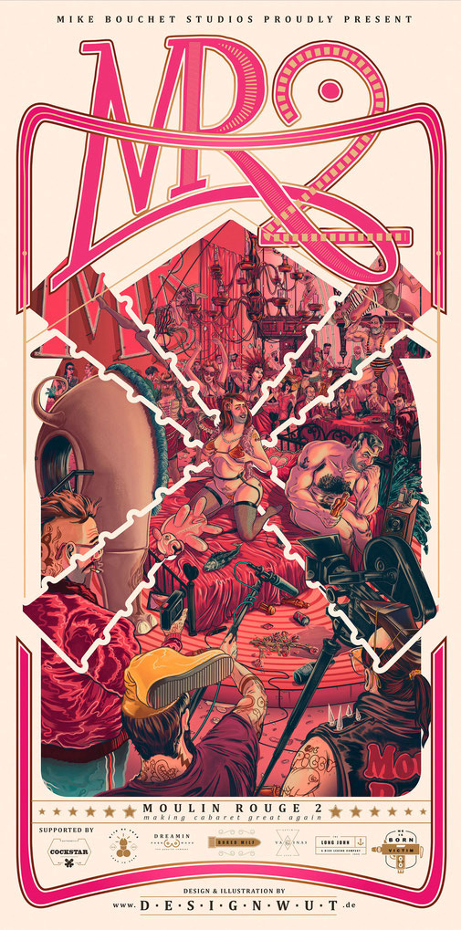 MIKE BOUCHET → Moulin Rouge 2 Poster Design