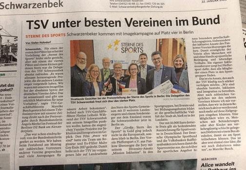 Quelle: Bergedorfer Zeitung vom 22.01.2020