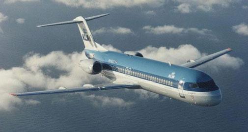 Mit der formschönen Fokker 100 (und Boeing 737) ersetzten KLM ihre DC-9-Flotte/Courtesy: Fokker