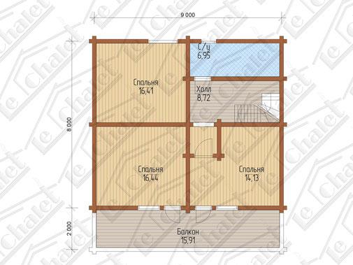 ле шале 164 кв.м, строительство шале под ключ, шале с 4 спальнями, проекты шале 164, шале из клееного бруса