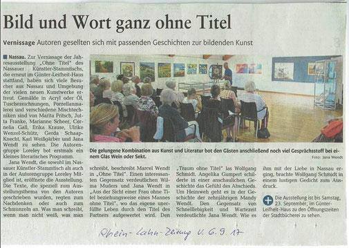 Rhein-Lahn-Zeitung vom 06.09.2017
