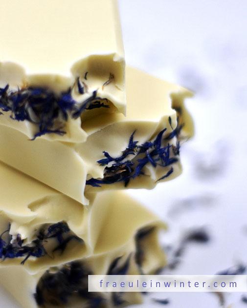 Seife sieden - Blüten-Topping | Fraeulein Winter