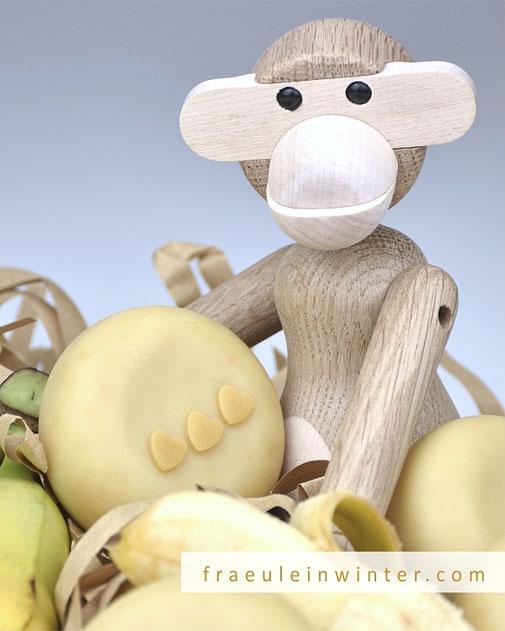 Bananenseife und Holzaffe von Kay Bojesen | Fraeulein Winter