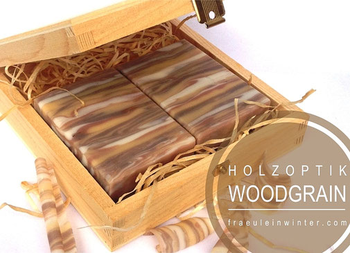 Wood Grain Soap - Holzmaserung in Seife | Fräulein Winter