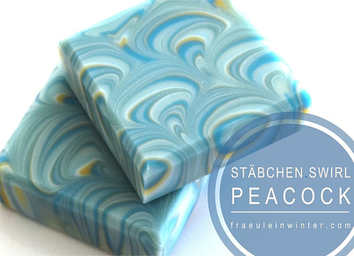 Seifenmuster: Peacock Siwrl Soap | Fräulein Winter