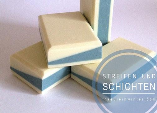 Streifen und Schichten in Seife | Fräulein Winter