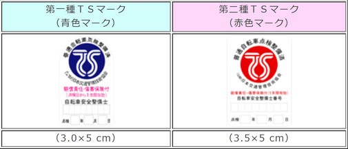 TSマーク(公益財団法人日本交通管理技術協会HPより)