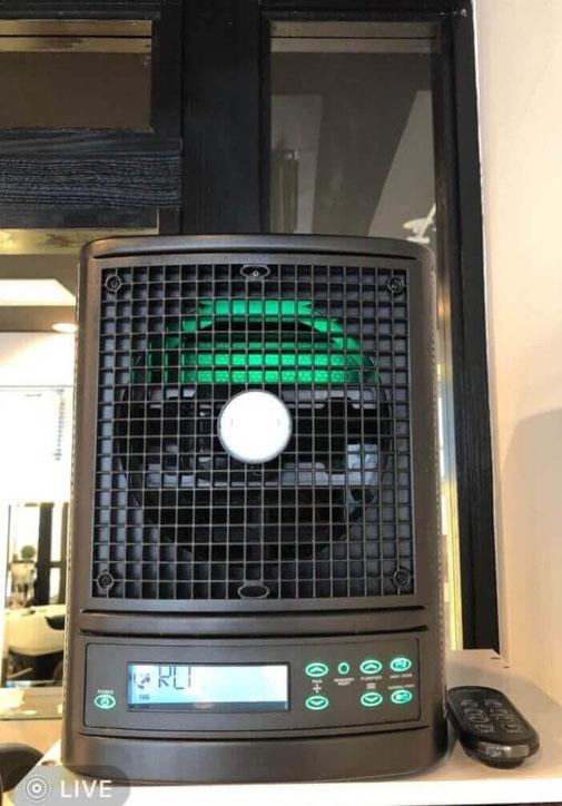 ヘッドスパ専門店うつくしの空気清浄機