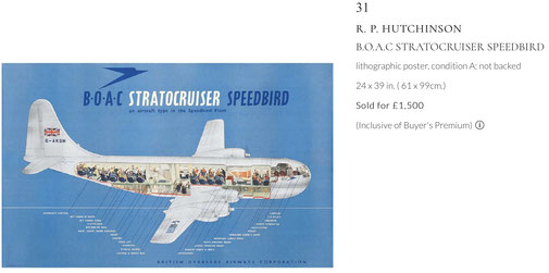 BOAC - Stratocruiser - Original vintage airline poster