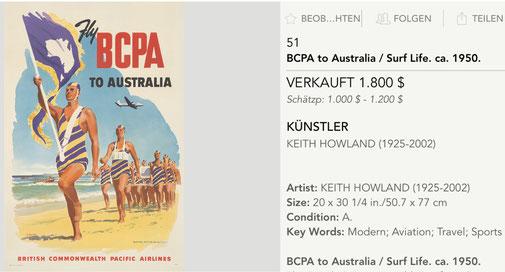 BCPA - Australia - Original vintage airline poster