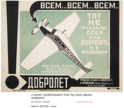 Dobrolet - Original vintage airline poster
