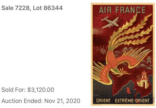 Air France - Orient · Extrême Orient - Lucien Boucher - Original vintage airline travel poster