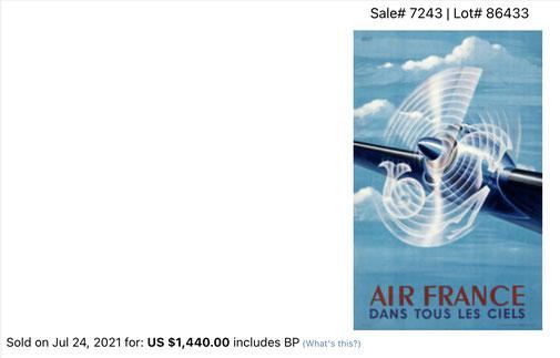 Air France - Dans tous les ciels - Original vintage airline poster