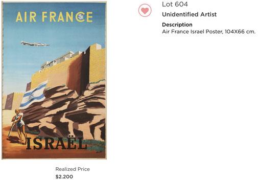 Air France - Israel - Renluc - Original vintage airline poster