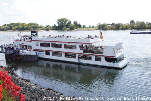 Foto: Rheinschiff  Stadt Rees am 02.09.2017, IG BCE OG Gladbeck-Süd