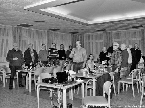 Foto: IG BCE Ortsgruppe Gladbeck Süd ehemals Brauck-Rosenhügel, Jahreshauptversammlung 2017, Staigerlied