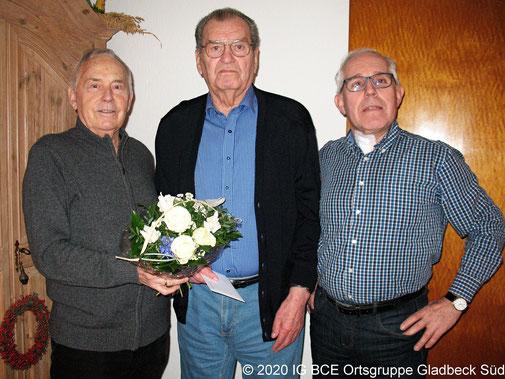 Foto: 85  Geburtstag, Erwin Radusch,  IG BCE OG Gladbeck-Süd, 2020
