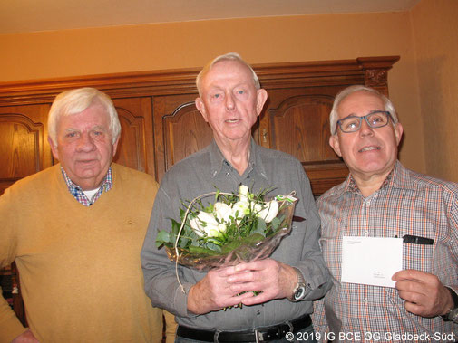 Foto: 80  Geburtstag, Paul Vitt, IG BCE OG Gladbeck-Süd, 2020