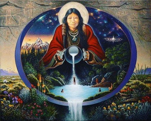 Das Retreat wird mit spirituellen Liedern der ganzen Welt angereichert