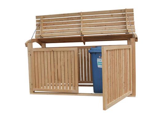 Mülltonnenschrank Holz