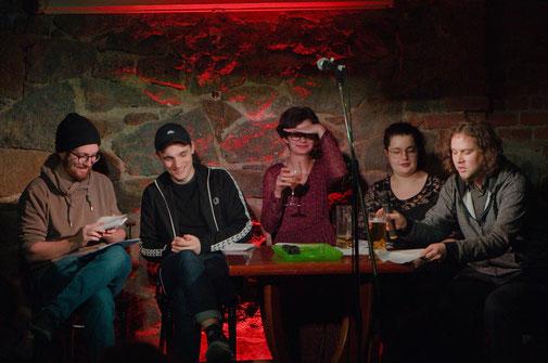 V.l.n.r.: Nils Matzka, Kaleb Erdmann, Sarah Teicher, Marsha Richarz, Jan Lindner // Foto: Jens Burkard