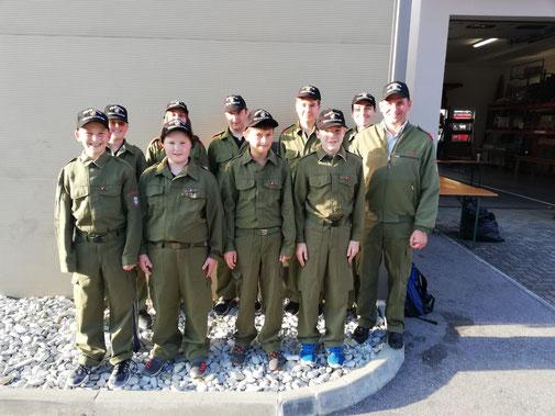 Derzeit sind 15 Jugendliche bei der Feuerwehr Dechantskirchen!