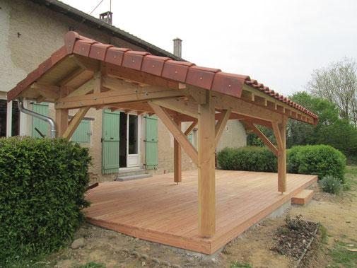 abris terrasse sur mesure terrasse bois