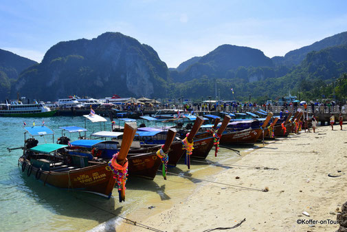 Koh Phi Phi, Thailand, Longtailboote