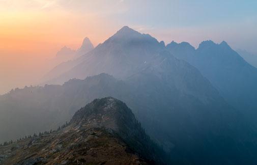 meditative Stimmung in den Bergen wie bei Psychosynthese