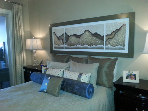 Cornwall condo newly decorated with artwork, furniture, drapery and bedding
