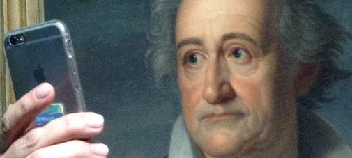 Goethe-Selfie im Wallraff-Richartz-Museum in Köln | Foto (Ausschnitt): Anke von Heyl
