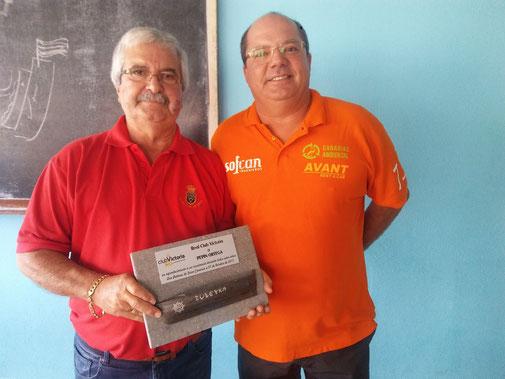 Pepín Ortega junto a Alejandro Barrera