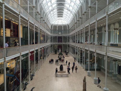 Architektonisches Highlight - Der Innenraum des Museums