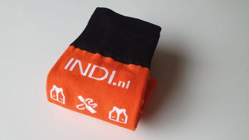 Logo sokken voor INDI