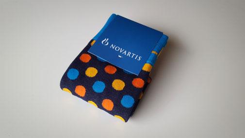 Custom made sokken voor NOVARTIS
