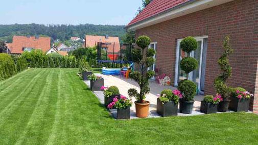 Beispiel Gestaltung einer Terrasse