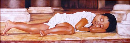 Mittagsschlaf im Tempel
