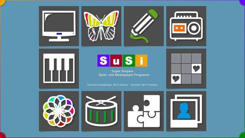 Die Bedienoberfläche von SuSi ist auch geeignet für geistig behinderte Kinder und Erwachsene