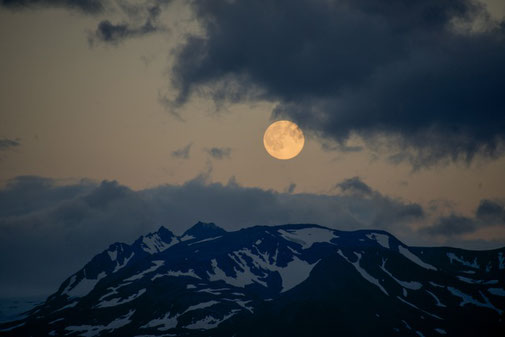 Vollmond in Alaska