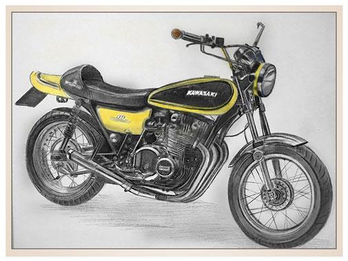 auftragsmalerei-inna-bredereck-kunstwerk-gegenstaende-kawasaki-gelb-schwarz-motorrad