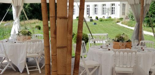 se marier dans un château sous chapiteau bambou mariage au château île de france lieu exceptionnel château mariage salle de mariage proche de paris autour de paris île de france région parisienne salle pour mariage chpiteau bambou tente bambou mariage