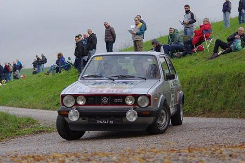 SENNA impegnato nel vittorioso Rally Valpantena su VW Golf GTI - Ott. 2014