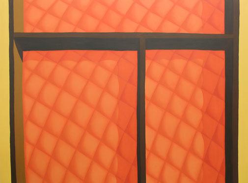 Pia Krajewski, oT (Schublade) 2019, oil on canvas, 150x200cm