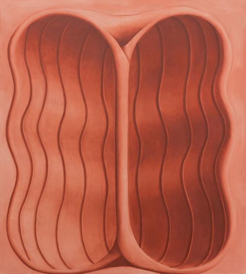 Pia Krajewski, oT (Nut) 2021, oil on canvas, 200x180cm