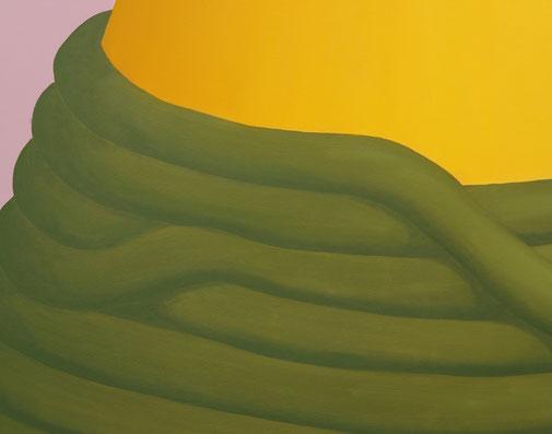 Pia Krajewski, detail oT (Spitze) 2019, oil on canvas, 180x150cm