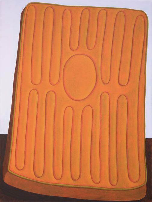 Pia Krajewski, oT (Matratze) 2020, oil on canvas, 200x150cm