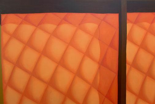 Pia Krajewski, detail oT (Schublade) 2019, oil on canvas, 150x200cm
