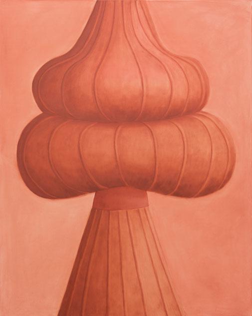 Pia Krajewski, oT (Hat) (grown 1) 2021, oil on canvas, 150x120cm